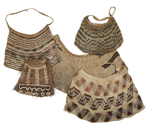 Four Woven Fiber Women's Bags, Morobe Province, Papua New Guinea