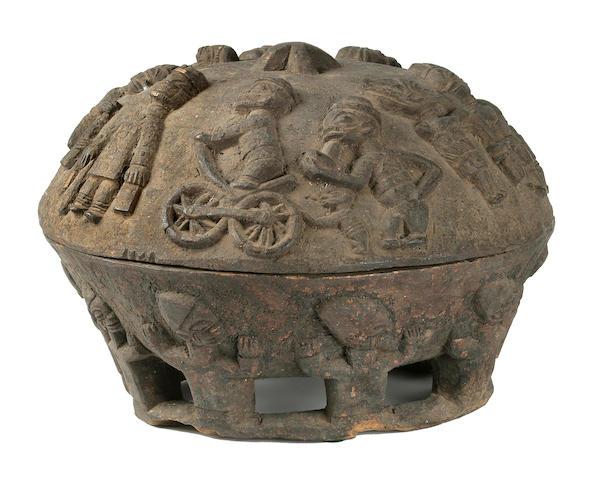 Yoruba Divination Bowl and Cover, Nigeria