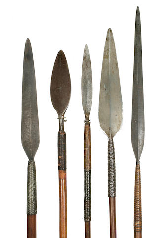 Five Assegai, Zulu, Spears, South Africa