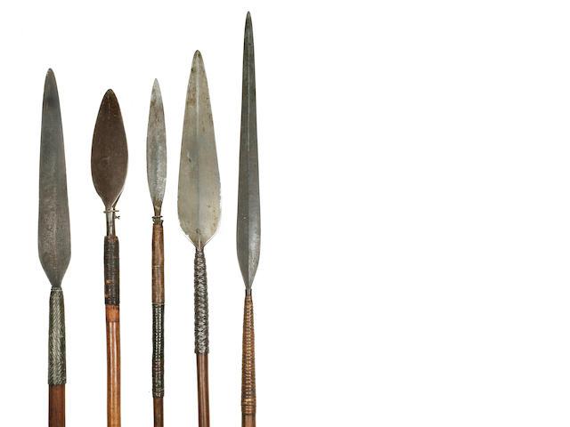 Five Assegai, Zulu, Spears, South Africa