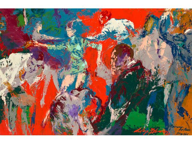 LeRoy Neiman (American, born 1926) St. Germain des Pres 24 3/8 x 36 1/4in