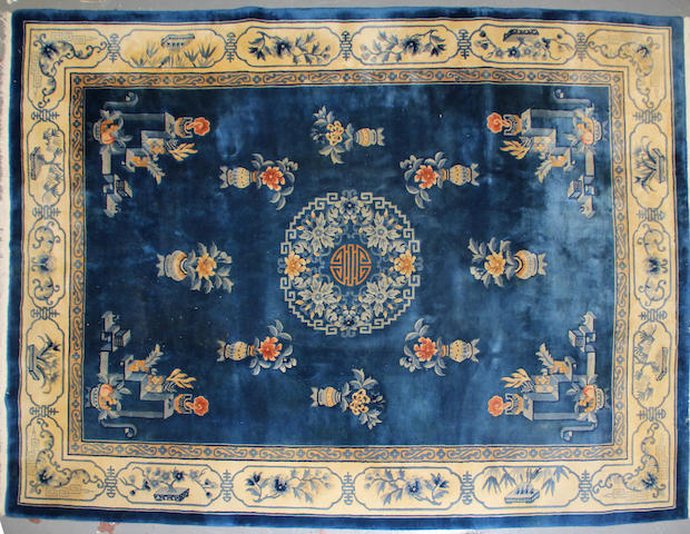 A Chinese Carpet size approximately 9 ft. x 12ft. 4in.