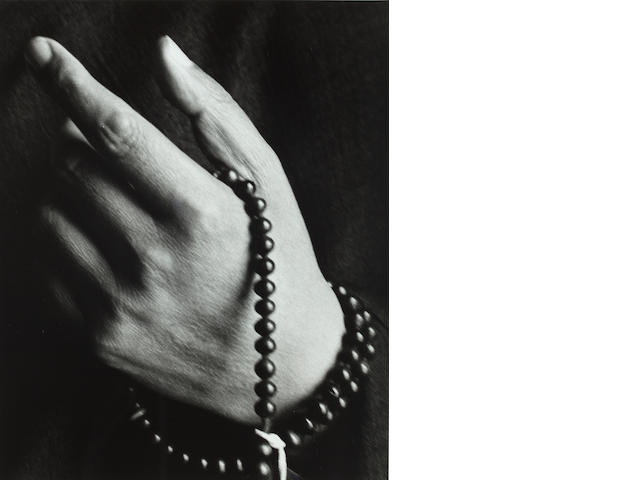 Herb Ritts (1952-2002) Hi Holiness the Dalai Lama (Hand), 1987 image: 12 5/8 x 10 1/4in. (32.1 x 26cm)<BR />sheet: 14 x 10 7/8in. (35.6 x 27.6cm) This work is number one from an edition of twenty-five.
