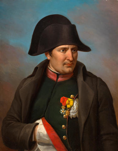 French School Portrait of Napoleon 30 3/4 x 24in (78 x 61cm)