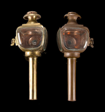 A pair of early side lamps,