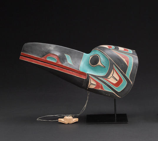 A Northwest Coast raven mask