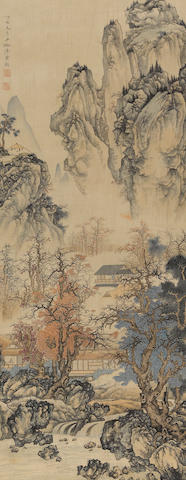 Chen Shaomei (1907-1954) Landscape, hanging scroll