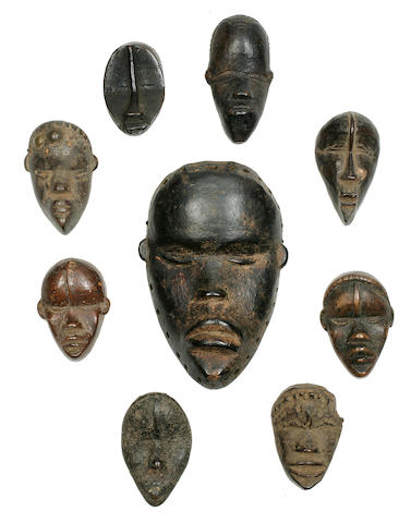 Group of Nine Dan Passport Masks, Liberia