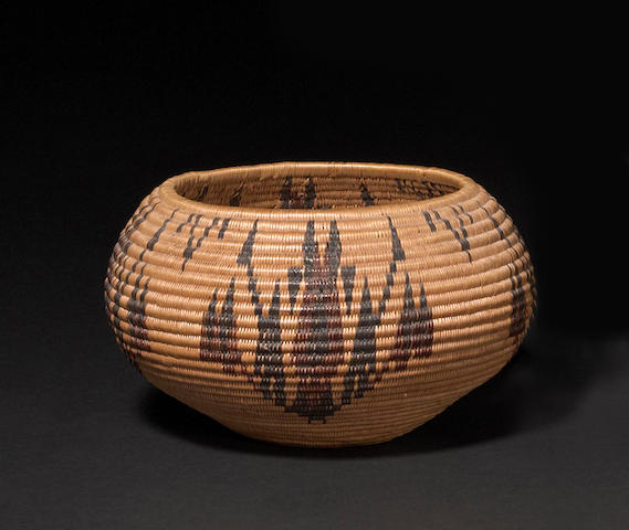 A Washo polychrome basket