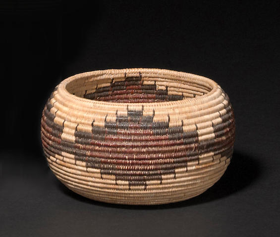 A Mono Lake Paiute polychrome basket
