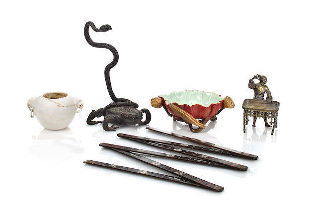 Five Asian style decorative objects