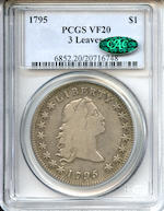 1795 $1 VF20 3 Leaves