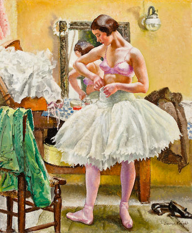 Dame Laura Knight, R.A., R.W.S. (British, 1877-1970) Dancer in Dressing Room, circa 1925 61.2 x 51.5 cm. (24 1/8 x 20 1/8 in.)