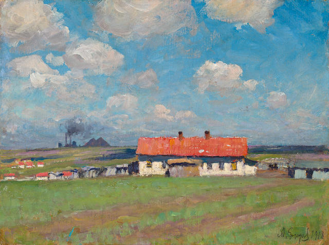 Andrei Afanasievich Jegorov (Russian, 1878-1954) Village Yuzovka