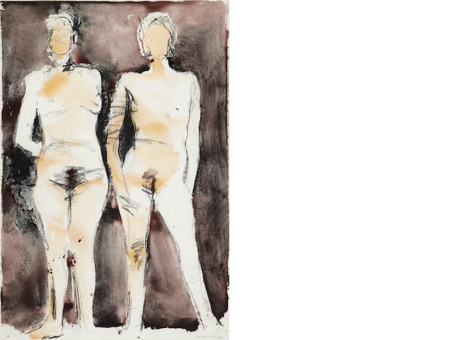Manuel Neri, Dos Figuras, 1992, mixed media on paper