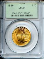1926 $10 MS65 PCGS