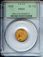 1926 $2.5 MS65 PCGS