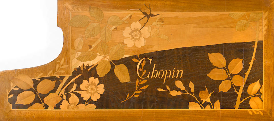 A Pleyel marquetry inlaid grand piano late 19th century