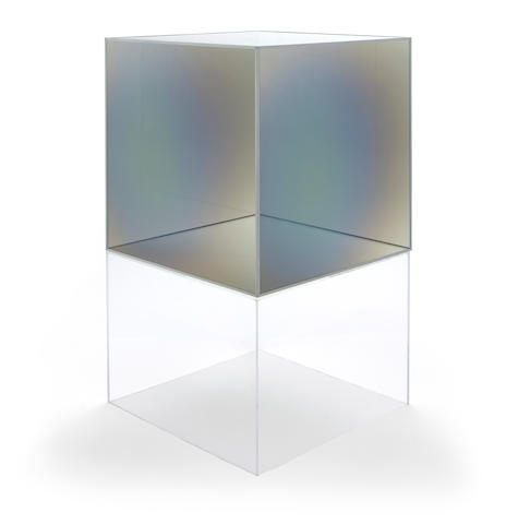 Larry Bell (born 1939) Series II Cube, 1985/2012 30 x 30 x 30in (76.2 x 76.2 x 76.2cm) height with acrylic base 53 1/2in (135.9cm)