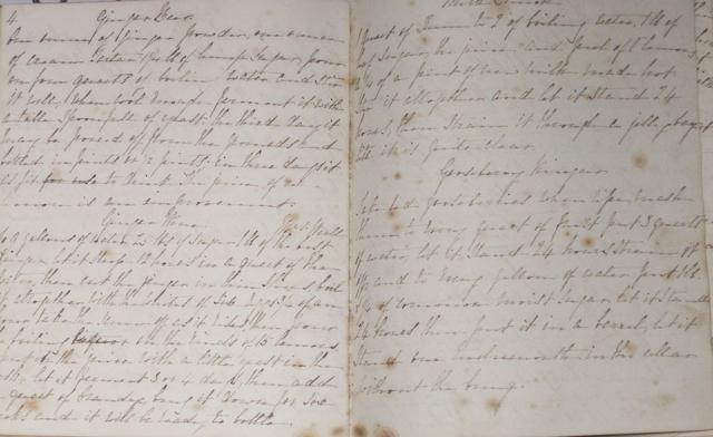 MANUSCRIPT COOKBOOK. Manuscript on paper, approximately 50 pp plus numerous blank leaves, 4to, [England, watermarked 1835],