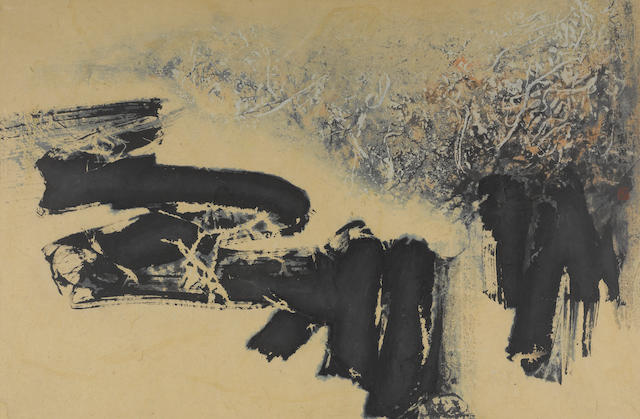 Liu Guosong, Untitled, ink and color on paper, framed and glazed
