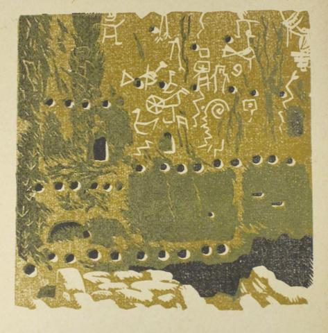 BAUMANN, GUSTAVE. 1881-1971. Frijoles Canyon Pictographs. Sante Fe: Writer's Editions, [1939].