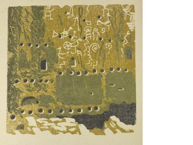 BAUMANN, GUSTAVE. 1881-1971. Frijoles Canyon Pictographs. Sante Fe: Writer's Editions, [1939].<BR />