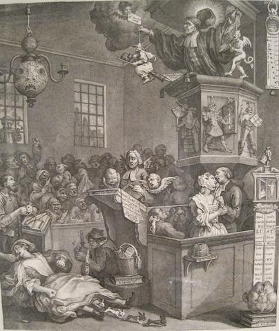 HOGARTH, WILLIAM. 1697-1764. Credulity, Superstition, and Fanaticism: a Medley. [London:] 1762 [or later].