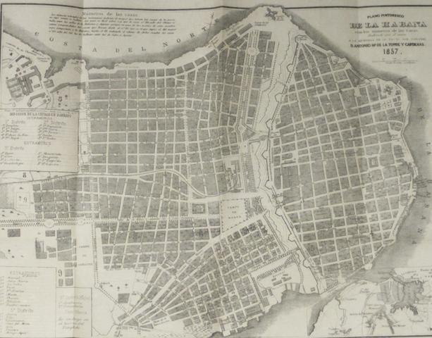 CUBAN IMPRINT. TORRE, JOSE MARIA DE LA. Lo que fuimos y lo que somos; o la Habana antigua y moderna. Havana: Spencer, 1857.