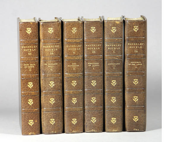 [BINDINGS.] Scott. Waverly Novels. 48 vols.