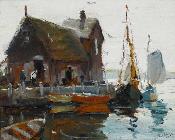 Anthony Thieme (American, 1888-1954) Motif no. 1, Rockport 8 x 10in