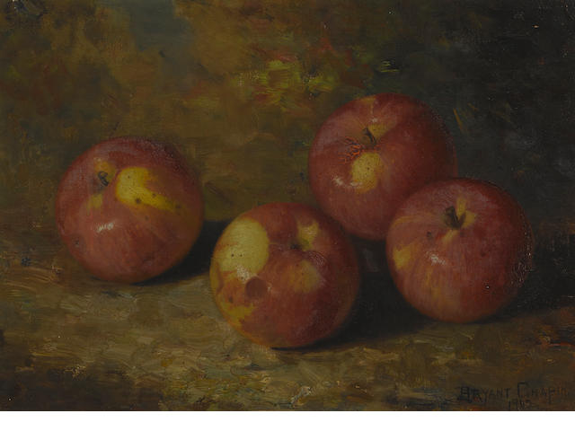 Bryant Chapin (American, 1859-1927) Still life with four apples, 1902 10 x 14in