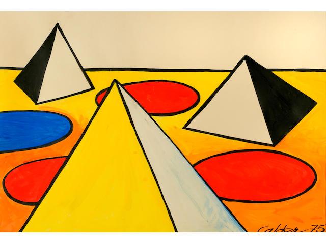 Alexander Calder (1898-1976) Horizon blanc, 1975 29 1/2 x 42 3/4in. (74.9 x 108.6cm)