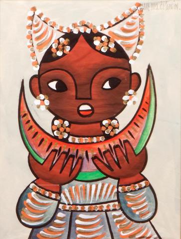 Jose Maria de Servin (Mexican, 1917-1983) Niño con sandia; Niña con sandia (2) each sight 19 x 14in