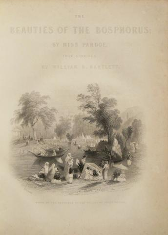 PARDOE, JULIA. 1806-1862. The Beauties of the Bosphorus. London: Virtue, [c.1850].<BR />