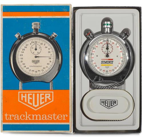 A HEUER-LEONIDAS 'Simoniz' branded stopwatch, Swiss made, circa 1970s,