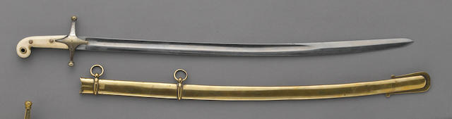 A British child's sword in the form of a mameluke-hilted saber