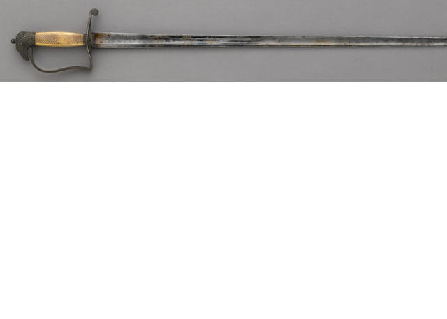 An early Federal Period eagle pommel officer's spadroon by Thurkle