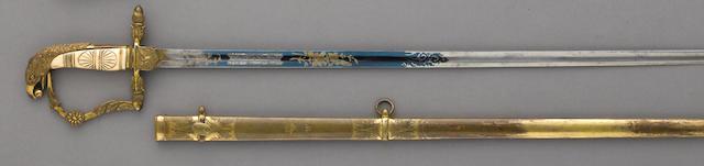 A fine American eagle pommel naval officer's sword