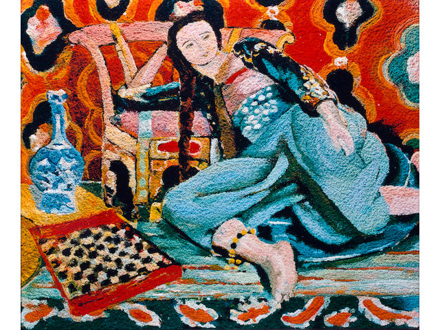 Vik  Muniz (born 1961) Odalisque with a Turkish chair, after Henri Matisse (Pictures of Pigment), 2006 image: 39 3/8 x 48in. (100 x 121.9cm) framed: 41 3/8 x 50in. (105.1 x 127cm) This work is number five from an edition of six, plus four artist's proofs.