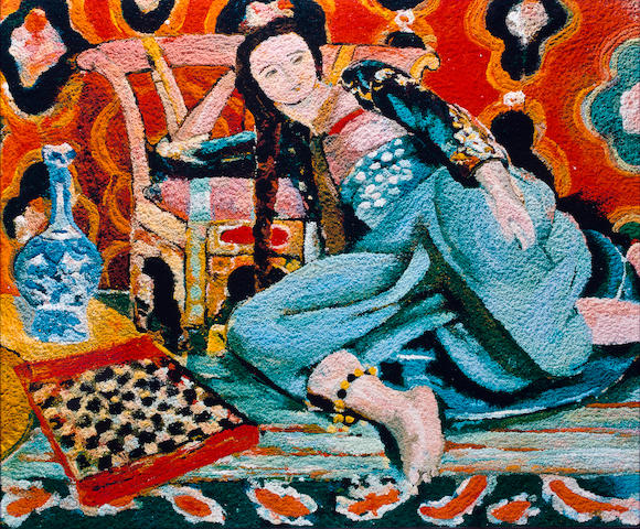 Vik  Muniz (born 1961) Odalisque with a Turkish chair, after Henri Matisse (Pictures of Pigment), 2006 image: 39 3/8 x 48in. (100 x 121.9cm)<BR />framed: 41 3/8 x 50in. (105.1 x 127cm) This work is number five from an edition of six, plus four artist's proofs.