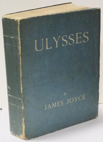 JOYCE, JAMES. 1882-1941. Ulysses. London: [John Rodker, Paris, for] the Egoist Press, 1922.