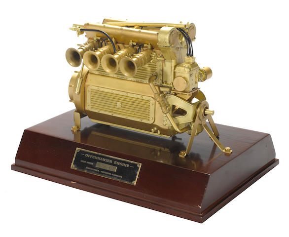 A scale model of an Offenhauser Engine,