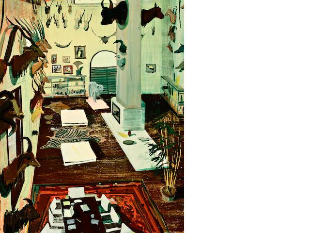 Jules de Balincourt (born 1972) Global Hunter, 2007 17 x 13 1/2in. (43.2 x 34.3cm)