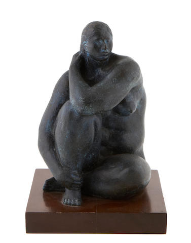 Felipe Castañeda (born 1933) Seated woman, 1976 overall dimensions 13 1/4 x 9 x 9 3/4in