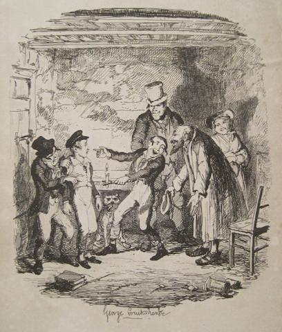 DICKENS, CHARLES. 1812-1870. Oliver Twist; or, the Parish Boy's Progress. London: Richard Bentley, 1838.