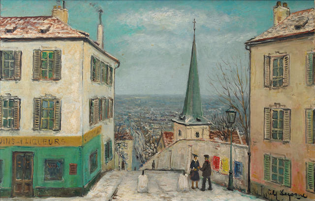 Alois Lecoque (Czechoslovakian, 1891-1981) View of Montmartre 20 x 31in