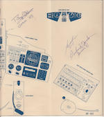 GEMINI BLUEPRINT—SIGNED BY FIVE SPACE PILOTS. Instruments, Displays, and Controls blueprint