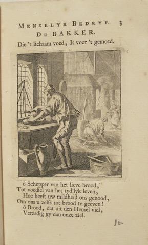 LUYKEN, JAN. 1649-1712. Spiegel van het menselyk Bedryf. Amsterdam: Kornelis vander Sys, 1718.