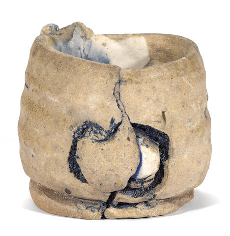 Peter Voulkos (American, 1924-2002) Untitled (Cup), 1977 3 1/2 x 3 1/2 x 4 1/2in (8.9 x 8.9 x 11.4cm)
